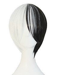 anime estilo quente de alta qualidade seda temperatura peruca cor preto e branco e de casal