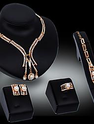 COCO 18K carat diamond jewelry luxury fashion women suit(Necklace Bracelet Earrings Ring)