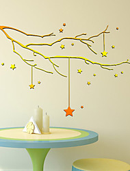 DIY Gold Stars Wall Stickers Art Decals Christmas Decoration