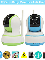 H.264 1.0MP HD 720P IP Camera Baby Monitor P2P Pan Tilt IR Cut WiFi Wireless Network IP Security Home Alarm Cam
