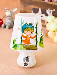 Creative Light-Operated Swing Girls Cup ABS LED Light Night lamp AC 220V-50Hz  1W
