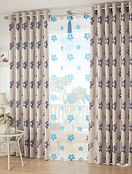 Two Panels European Contracted Fashion Floral Curtains Children Room Drapes