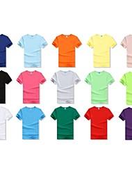 T-shirt personnalisé - Rouge / Rose / Blanc / Vert / Violet / Fuchsia / Orange  - en 70% coton 30% nylon + élasthannne - Homme