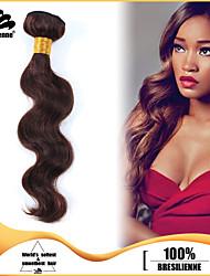 4Pcs/Lot Virgin Human Hair Weaves Body Wave Hair Weft Brazilian Hair Bundles Chocolate Brown Brazilian Human Hair Weaves