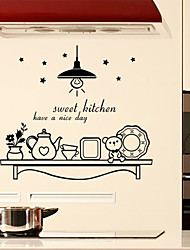 Wall Stickers Wall Decals Style Sweet Kitchen English Words & Quotes PVC Wall Stickers