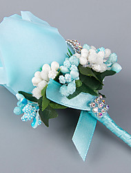 Elegant Rose Wedding/Party Boutonniere with Rhinestone for the Groomsman and Bridesmaid(7*12cm)