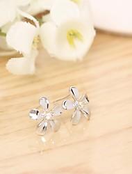 Tous jewelry silver earings 925 women korean tv drama fine jewelry small flower diamond 3a cz stud earrings pendientes