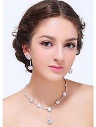 Women's Silver Alloy Crystal Rhinestone Cubic Zirconia Jewelry Set