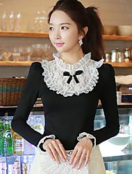 T-Shirts ( Coton / Polyester / Viscose ) Informel / Soirée Support à Manches longues pour Femme