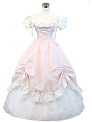Steampunk®Gothic Pink Civil War Southern Belle Lolita Ball Gown Dress Halloween Party costume