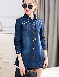 Women's Denim Printing Fashion Shirts