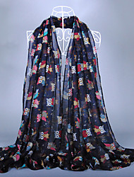 Women's Fashion Owls Print Scarf