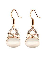 Hoop Earrings Women's Alloy Earring Imitation Pearl