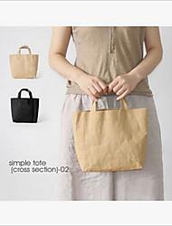 Washed kraft Paper Bag Hand Bag Small Fresh Simple Women's Bag