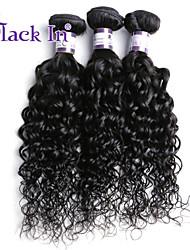 cabelo humano barato cabelo virgem peruano três feixes malaio encaracolado virgem encaracolado cabelo tecer