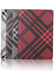 Étui en cuir toile de quadrillage de portefeuille de 7,9 pouces avec support pour iPad Mini 4 (couleurs assorties)