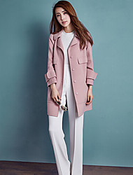Women's Solid Pink Trench Coat