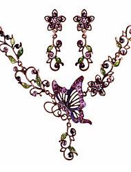 Collar / Pendiente ( Baño en Oro / Aleación / Zirconia Cúbica )- Vintage / Bonito / Fiesta / Casual para Mujer