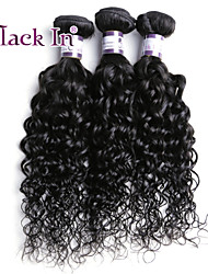 """100% Unprocessed Malaysian Virgin Curly Hair Mixed Lenghth 12"""" to 30"""" BLACK IN 3pcs Lot Human Hair Extension"""