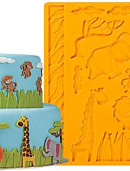 Cake Decoration Tools Jungle Animals Fondant and Gum Paste Mold Cake Decorating Border Silicone Mold