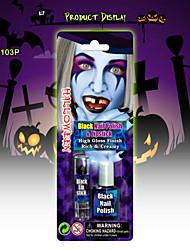 halloween compõem rosto kit de pintura zumbi, batom preto&unha polonês preto