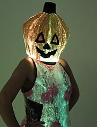Colorful Light Luminous LED Halloween Pumpkin Hat Mask