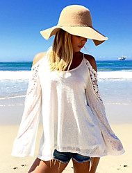 Women's Sexy Beach Casual Work Long Sleeve Plus Size T-shirt