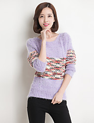 Nizi Women'S Stereo Hit Color Mohair Sweater Sweater