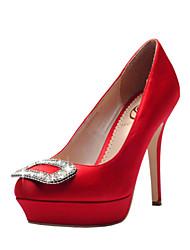 Women's Wedding Shoes Heels / Platform / Closed Toe Heels Wedding / Party & Evening / Dress Black / Blue / Green / White
