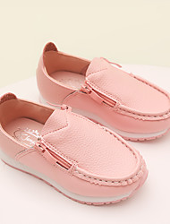 Childrens' Shoes Dress / Casual Leatherette Loafers Black / Pink / White