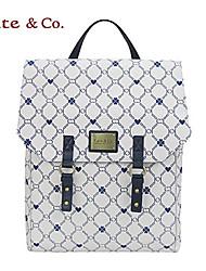 Kate & Co.® Femme PVC Sac à Dos Blanc - TS-00147