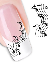 10 Pcs Music Note Water Transfer Nail Stickers
