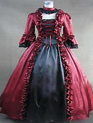 Steampunk®Marie Antoinette Period Dress Red Satin Gothic Party Dress
