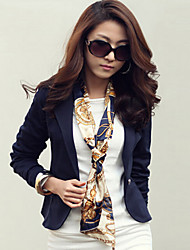 SEXY Women's Color Block  / White / Black Suits & Blazers , Vintage / Sexy / Casual / Work Round / V-Neck Long Sleeve