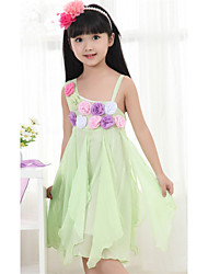 Kid's Dress , Cotton Casual/Cute/Party Flowery