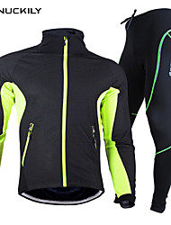 Nuckily Cycling Jacket with Pants Unisex Long Sleeve Bike Clothing SuitsWaterproof Thermal / Warm Quick Dry Windproof Anatomic Design
