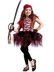 Costumes - Pirate - Enfant - Halloween / Carnaval / Le Jour des enfants - Robe / Casque / Gants
