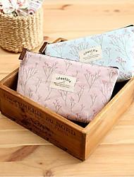 Women Linen Professioanl Use Cosmetic Bag Beige / Pink / Blue / Brown