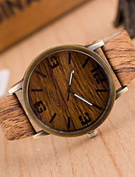 Unisex  Watches Wood Grain Wrist Watch Synthetic Leather Strap Man Watch Women Watch Anniversary Gifts Cool Watch Unique Watch Fashion Watch