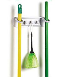 Multi-Purpose Mop and Broom Holder Organizer Wall Mounted Storage Hook Hanging Rack