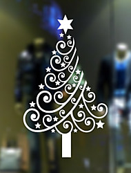 Window Stickers Window Decals Style Christmas Tree PVC Door stickers