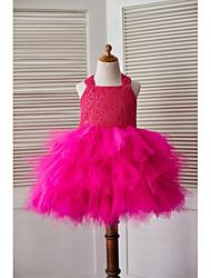 a-line платье для девочки с длинным рукавом - кружевные тюль без рукавов с носом (бабочками) от thstylee