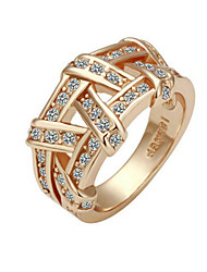 Ring Women's Cubic Zirconia Alloy Alloy 7 Gold