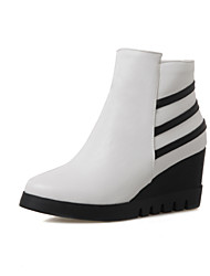 Women's Shoe   Wedges / Fashion Boots Boots Outdoor / Office & Career / Casual Wedge Heel OthersBlack /&038-1