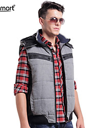 Lesmart Men's Hooded Casual Fashion Cotton Vest Coat in Winter