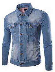 Autumn And Winter Men's Clothing Denim Jacket Outerwear Denim Coat Slim Vintage Cotton Denim Jacket Male