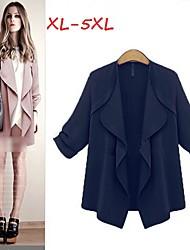 Manteaux & Vestes ( Polyester ) Informel Rond à Manches longues pour Femme