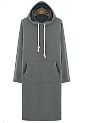 Vintage / Informell Kapuzenshirt - Langarm - FRAUEN - Pullover mit / ohne Mützen ( Baumwolle )