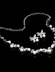 Conjunto de jóias Mulheres Aniversário / Casamento / Noivado / Presente / Festa / Ocasião Especial Conjuntos de Joalharia Liga / Strass