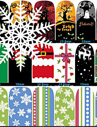 Fashion Halloween Christmas Style Nail Art Stickers